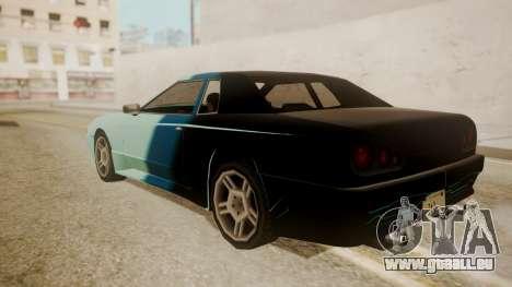 Elegy FnF Skins pour GTA San Andreas vue de dessous