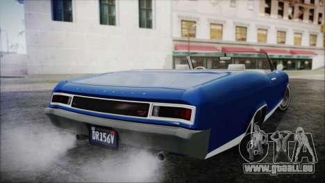 GTA 5 Albany Buccaneer Hydra Version pour GTA San Andreas laissé vue