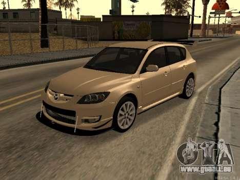 Mazda 3 MPS Tunable pour GTA San Andreas vue arrière