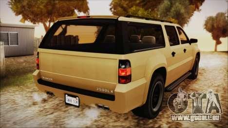 GTA 5 Declasse Granger SA Style für GTA San Andreas linke Ansicht