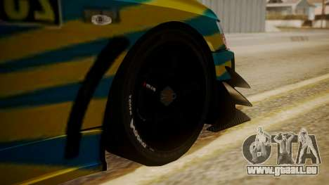 Mitsubishi Lancer Evolution Pushkar pour GTA San Andreas sur la vue arrière gauche