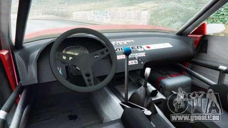 GTA 5 Nissan Silvia S13 v1.2 [with livery] arrière droit vue de côté
