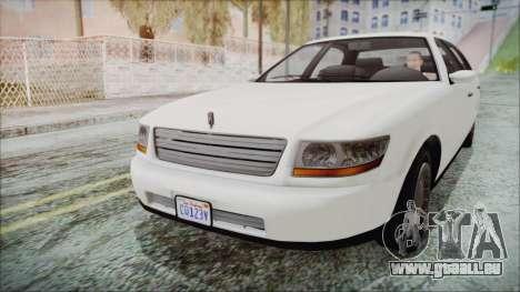 GTA 5 Albany Washington IVF pour GTA San Andreas sur la vue arrière gauche