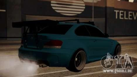 BMW 1M E82 with Sunroof pour GTA San Andreas laissé vue