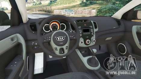 GTA 5 Kia Forte Koup SX [Beta] arrière droit vue de côté