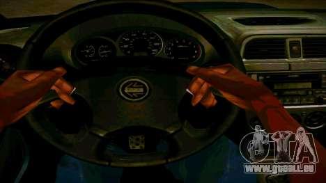 Subaru Impreza WRX STI Wagon pour GTA San Andreas vue intérieure