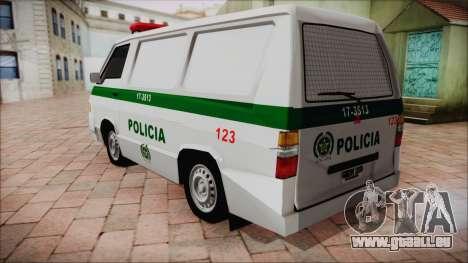 Mitsubishi L300 2008 Patrol Kolumbianischen Poli für GTA San Andreas linke Ansicht