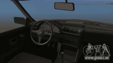 BMW 325i E30 pour GTA San Andreas vue arrière