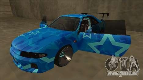 Nissan Skyline R33 Drift Blue Star pour GTA San Andreas vue de dessous
