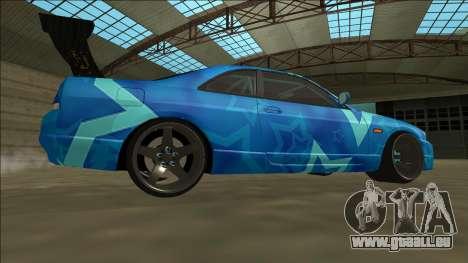 Nissan Skyline R33 Drift Blue Star pour GTA San Andreas vue de droite