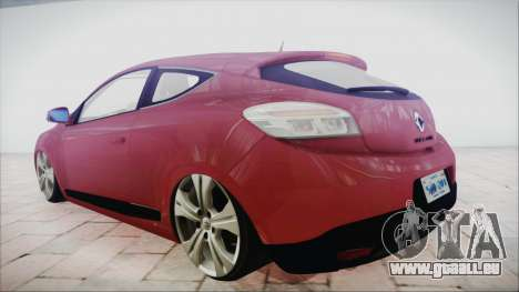 Renault Megane 3 pour GTA San Andreas laissé vue