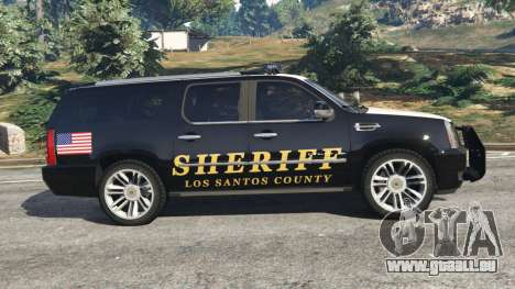 GTA 5 Cadillac Escalade ESV 2012 Police linke Seitenansicht