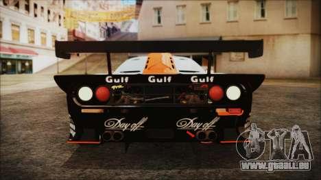 McLaren F1 GTR 1998 pour GTA San Andreas vue intérieure