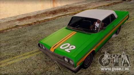 Chevrolet Impala SS 1964 Final für GTA San Andreas Innen
