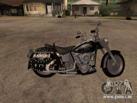 Harley Davidson Fat Boy Sons Of Anarchy pour GTA San Andreas