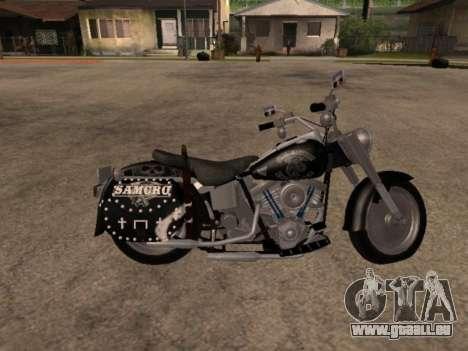 Harley Davidson Fat Boy Sons Of Anarchy für GTA San Andreas