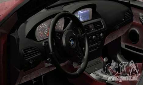 BMW M6 E63 pour GTA San Andreas sur la vue arrière gauche