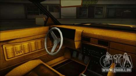 GTA 5 Willard Faction Custom Bobble Version IVF pour GTA San Andreas vue de droite