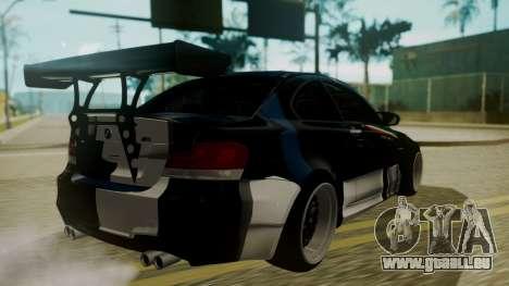 BMW 1M E82 without Sunroof pour GTA San Andreas vue de dessous