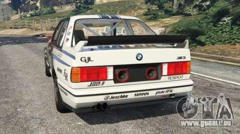 GTA 5 BMW M3 (E30) 1991 [Nalan] v1.2 arrière vue latérale gauche