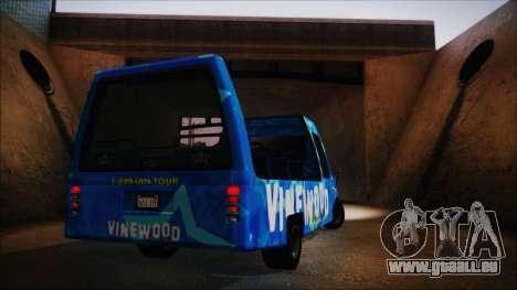 Vinewood VIP Star Tour Bus (Fixed) für GTA San Andreas rechten Ansicht