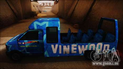 Vinewood VIP Star Tour Bus (Fixed) für GTA San Andreas zurück linke Ansicht