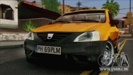 Dacia Logan Pickup 6x6 pour GTA San Andreas vue de droite