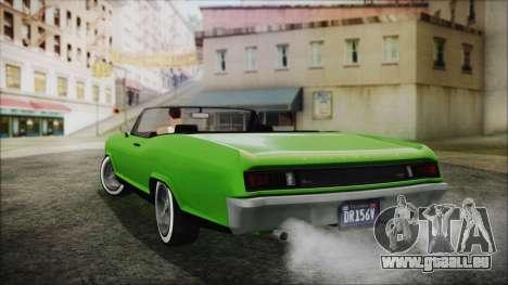 GTA 5 Albany Buccaneer Hydra Version IVF für GTA San Andreas linke Ansicht