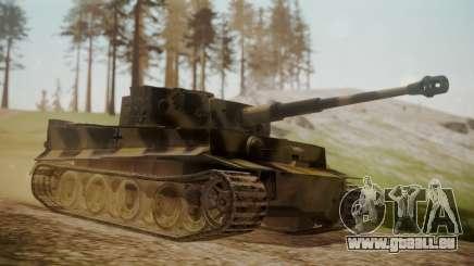 Panzerkampfwagen VI Tiger Ausf. H1 No Interior pour GTA San Andreas