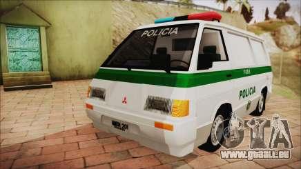 Mitsubishi L300 2008 Patrol Kolumbianischen Polizei für GTA San Andreas