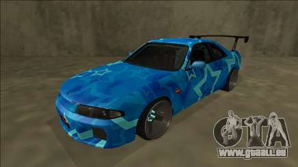 Nissan Skyline R33 Drift Blue Star für GTA San Andreas