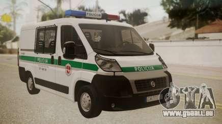 Fiat Ducato Lithuanian Police für GTA San Andreas