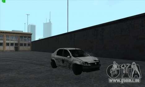 Renault Logan für GTA San Andreas Unteransicht