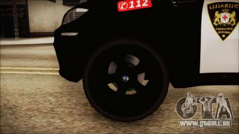 BMW X6 Georgia Police für GTA San Andreas zurück linke Ansicht