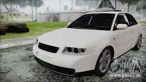 Audi A3 1.8 S3 pour GTA San Andreas vue de droite