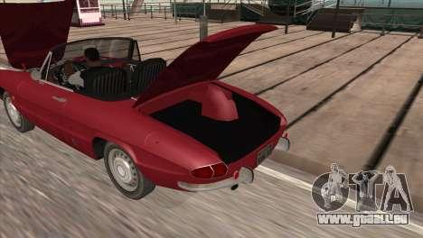 1966 Alfa Romeo Spider Duetto [IVF] für GTA San Andreas zurück linke Ansicht