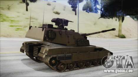 M4 Scorcher Self Propelled Artillery für GTA San Andreas linke Ansicht