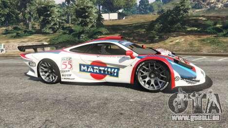 GTA 5 McLaren F1 GTR Longtail [Martini Racing] vue latérale gauche