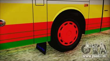 Bus Pt.BARUMUN Sibuhuan pour GTA San Andreas sur la vue arrière gauche