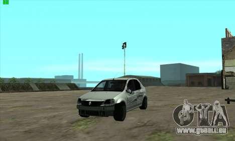 Renault Logan für GTA San Andreas obere Ansicht