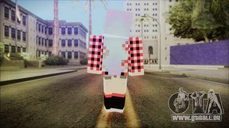 Minecraft Female Skin Edited pour GTA San Andreas troisième écran