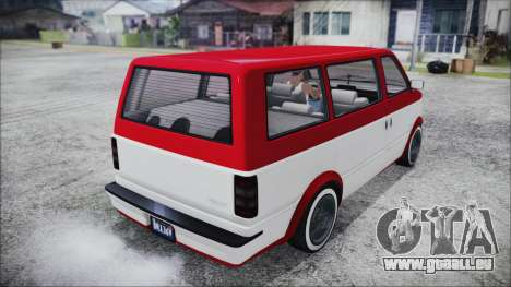 GTA 5 Declasse Moonbeam Bobble Version IVF für GTA San Andreas zurück linke Ansicht