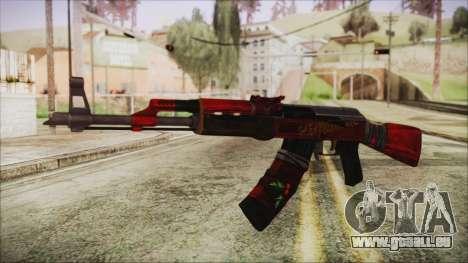 Xmas AK-47 pour GTA San Andreas