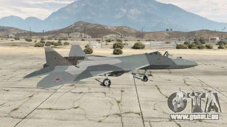 GTA 5 T-50 PAK FA v0.02 zweite Screenshot