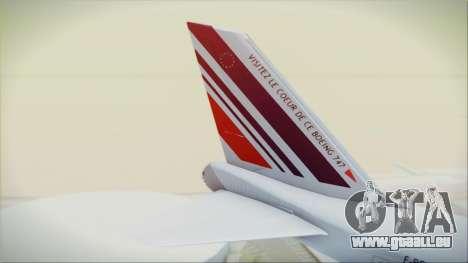 Boeing 747-128B Air France für GTA San Andreas zurück linke Ansicht