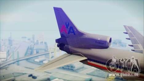 Lockheed L-1011 Tristar American Airlines für GTA San Andreas zurück linke Ansicht