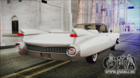 Cadillac Eldorado Biarritz 1959 pour GTA San Andreas laissé vue