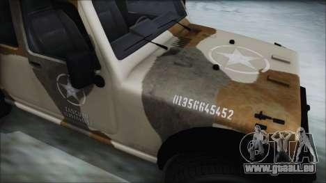 GTA 5 Canis Crusader IVF pour GTA San Andreas sur la vue arrière gauche