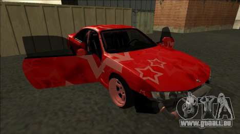 Nissan Silvia S14 Drift Red Star für GTA San Andreas
