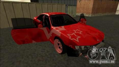 Nissan Silvia S14 Drift Red Star für GTA San Andreas